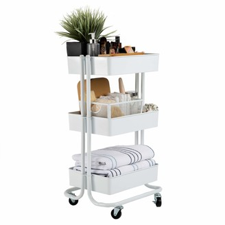 "Seville Classics 3-Tier UltraDurable Commerical-Grade Heavy-Duty NSF-Certified Service Utility Storage Cart 16.7"" W"