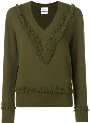 Barrie embroidered V-neck pullover