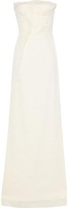 Roland Mouret Strapless Ruffled Crinkled Silk-blend Organza Bridal Gown