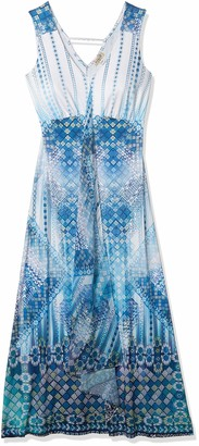 One World ONEWORLD Women's Light Weight Sublimated Maxi Dress