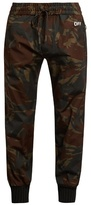 Off-White Camouflage-print ribbed-cuff trousers