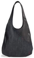 Ed Ellen Degeneres Monterey Denim & Leather Hobo - Blue