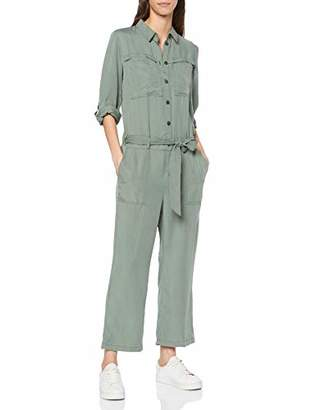 Tom Tailor Women's Lässiger Jumpsuit/Einteiler mit Moderner Passform Pale Bark Green 13182, (Size: )
