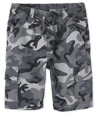 The Children's Place Boys Camo Printed Cargo Shorts, Sizes 4-16, Husky & Slim