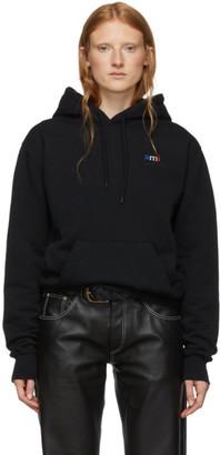 Ami Alexandre Mattiussi Black Embroidered Logo Hoodie