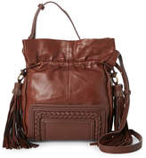 Sondra Roberts Braided Leather Drawstring Crossbody