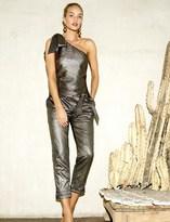 Paige Rosie HW x Collection Maisie Jumpsuit - Gold Metallic Foil On Black