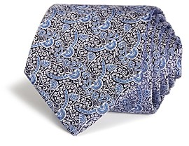 Eton Scattered Stem Flowers Silk Classic Tie