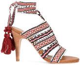 Ulla Johnson Sabina Tribal sandals - women - Cotton/Leather - 9
