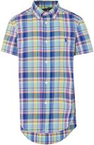 Polo Ralph Lauren Boys Plaid Check Short Sleeve Shirt