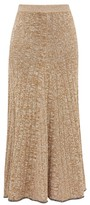 Joseph Sally Rib-knitted Skirt - Womens - Beige