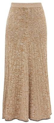 Joseph Sally Rib-knitted Skirt - Womens - Beige
