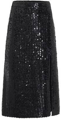 Gucci Sequinned midi skirt