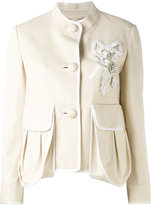 Fendi short jacket - women - Cotton/Lamb Skin - 40