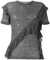 IRO sheer frill T-shirt