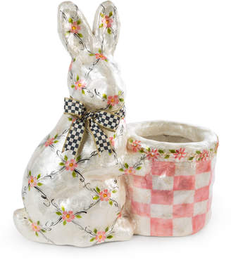 Mackenzie Childs MacKenzie-Childs Floral Rabbit with Basket