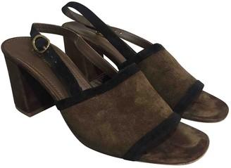 Mansur Gavriel Brown Suede Sandals
