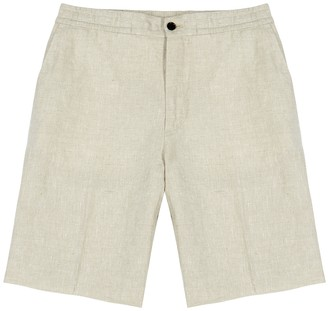 J. Lindeberg Sasha sand linen shorts