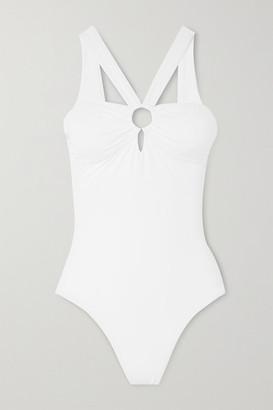 Melissa Odabash Valencia Ruched Swimsuit - White