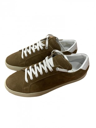 Saint Laurent SL/06 Khaki Suede Trainers