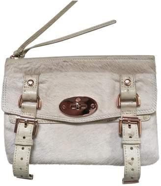 Mulberry Alexa Ecru Pony-style calfskin Clutch bags