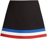 J.W.Anderson Striped-hem neoprene mini skirt