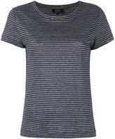 A.P.C. striped T-shirt - women - Linen/Flax - L