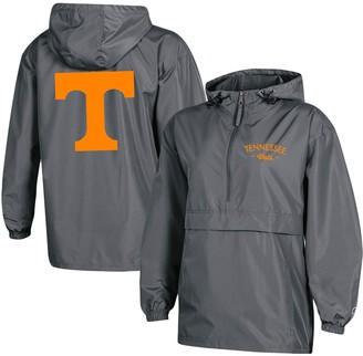 Champion Women's Charcoal Tennessee Volunteers Packable Half-Zip Light Rain Jacket