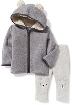 Old Navy Fleece Critter Hoodie & Bear Leggings Set for Baby