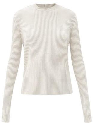 Rick Owens Ribbed Wool Sweater - Light Grey