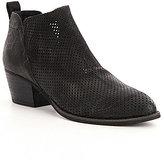 Dolce Vita Sonya Perforated Leather Slip-On Block Heel Booties