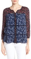 Lucky Brand Women's Mix Floral Print Top