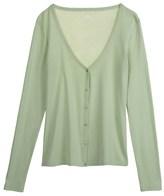 Petit Bateau Women's V-neck cardigan in light cotton