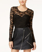 Material Girl Juniors' Illusion Lace Bodysuit, Only at Macy's
