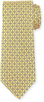 Neiman Marcus Boxed Chain-Pattern Silk Tie, Yellow