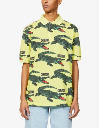 Lacoste x Chinatown Market cotton-blend polo shirt