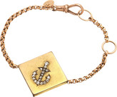 Annina Vogel 9ct rose-gold rose-cut diamond anchor guard bracelet
