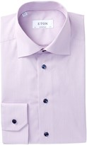 Eton Stripe Contemporary Fit Dress Shirt