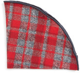 Alexander Olch Plaid Flannel Pocket Round