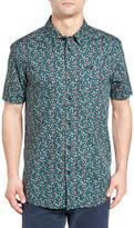 RVCA Top Poppy Print Woven Shirt