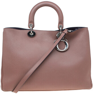 Christian Dior Light Brown Leather Large Diorissimo Shopper Tote