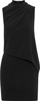 Halston Draped Crepe Mini Dress