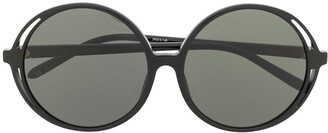 Linda Farrow Circle Frame Sunglasses