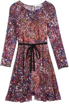 Maje Relana Silk Floral Mini Dress