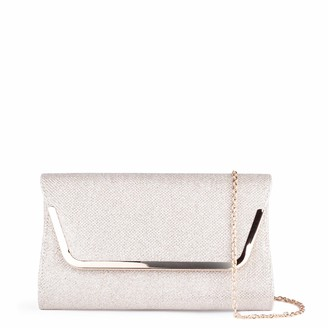 Paradox London Pink Womens DENISE Clutch Gold (Champagne)
