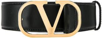 Valentino Buckle Belt in Black | FWRD