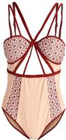 For Love & Lemons SAMBA Swimsuit nude/berry