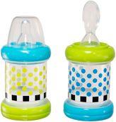 Sassy 2-Pack 4 oz. Baby Food Nurser Bottles in Green/Blue
