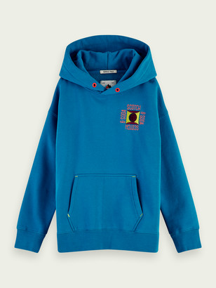 Scotch & Soda Clean hoodie with embroidered detail | Boys