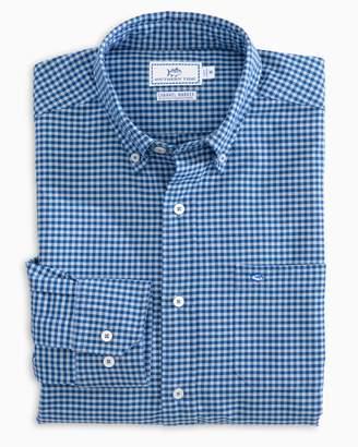 Southern Tide Channel Marker Gingham Sport Shirt